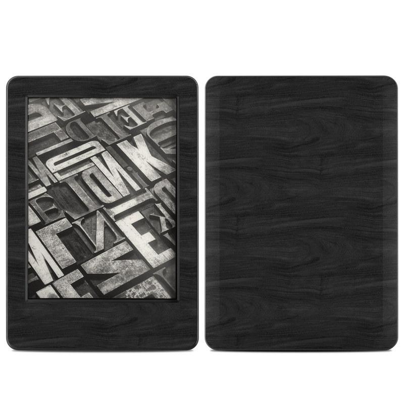 Black Woodgrain Amazon Kindle (2014) Skin