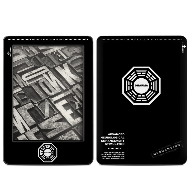 Dharma Black Amazon Kindle (2014) Skin