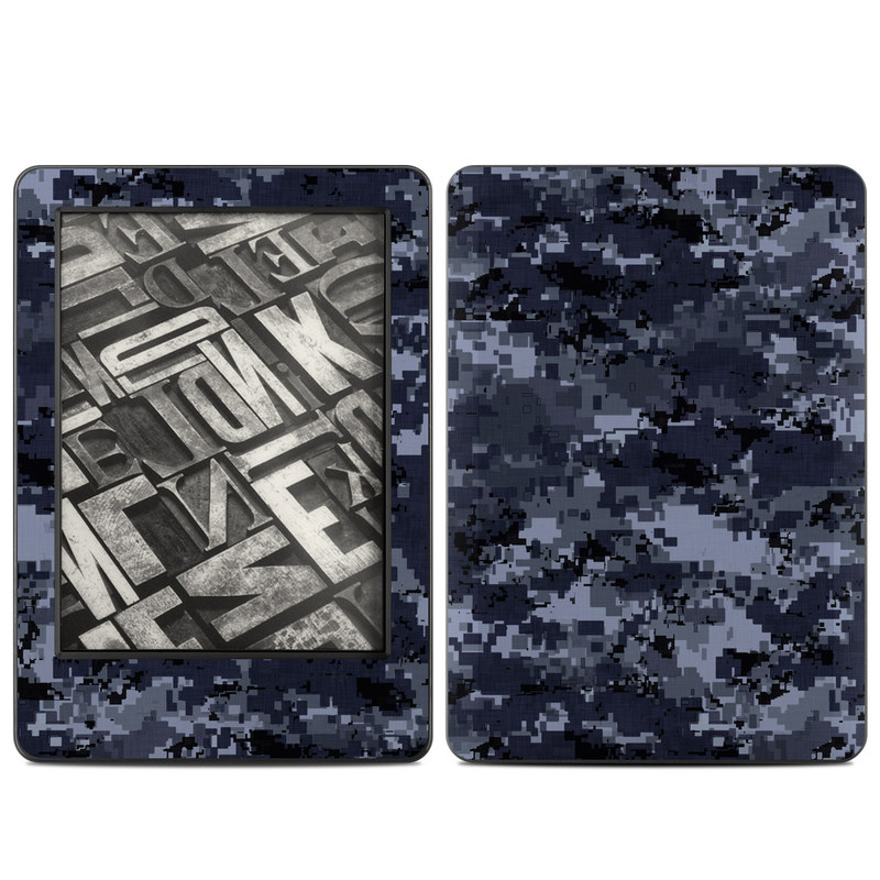 Digital Navy Camo Amazon Kindle (2014) Skin