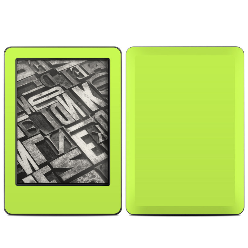 Amazon Kindle 7th Gen Skin design of Green, Yellow, Text, Leaf, Font, Grass with green colors