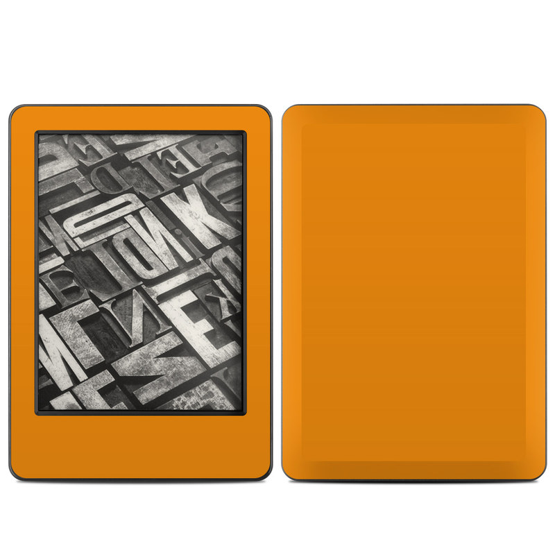 Amazon Kindle 7th Gen Skin design of Orange, Yellow, Brown, Text, Amber, Font, Peach with orange colors