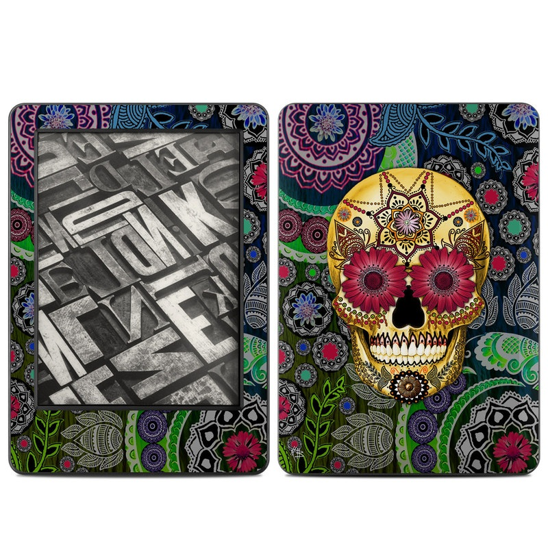 Sugar Skull Paisley Amazon Kindle (2014) Skin