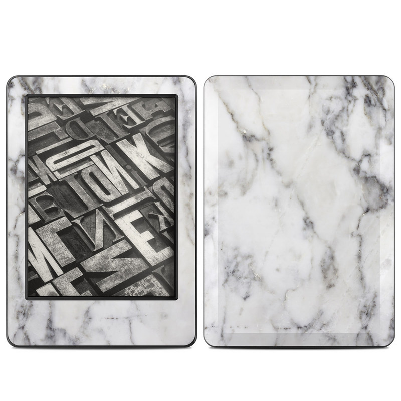 Amazon Kindle 7th Gen Skin design of White, Geological phenomenon, Marble, Black-and-white, Freezing with white, black, gray colors