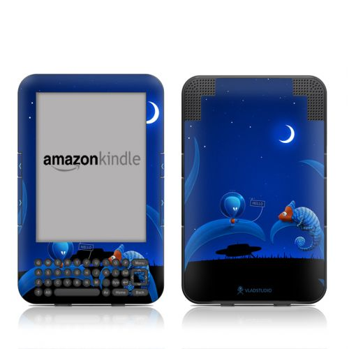 Alien and Chameleon Amazon Kindle 3 Skin