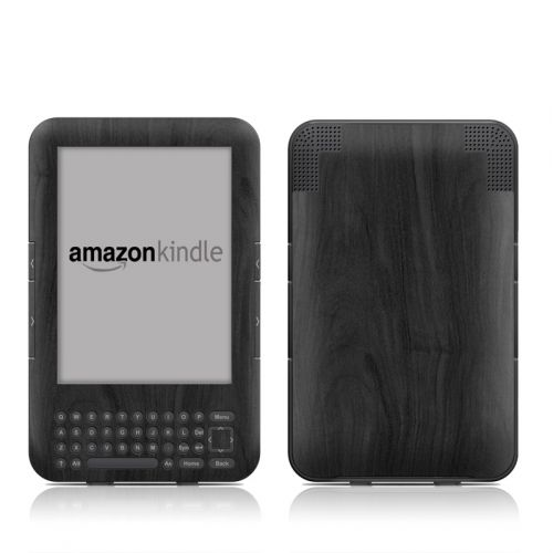Black Woodgrain Amazon Kindle Keyboard Skin