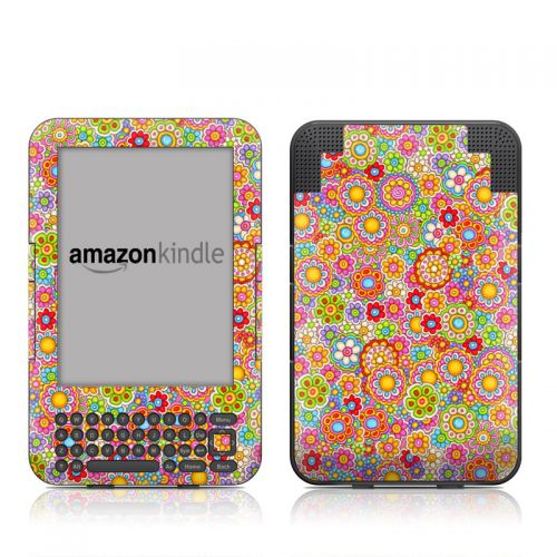 Bright Ditzy Amazon Kindle 3 Skin