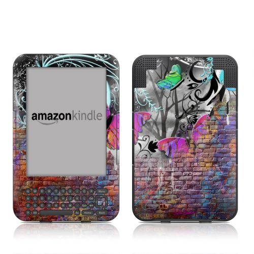 Butterfly Wall Amazon Kindle 3 Skin
