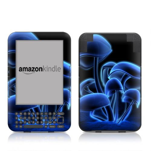 Fluorescence Blue Amazon Kindle 3 Skin