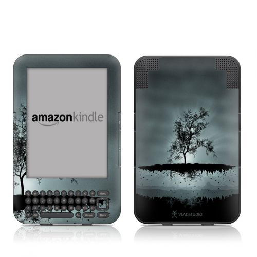 Flying Tree Black Amazon Kindle 3 Skin