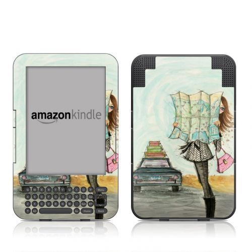Getting There Amazon Kindle Keyboard Skin