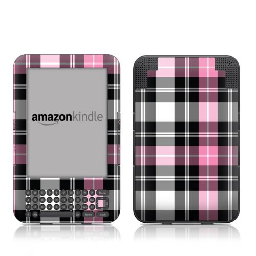 Pink Plaid Amazon Kindle 3 Skin