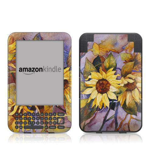 Sunflower Amazon Kindle 3 Skin
