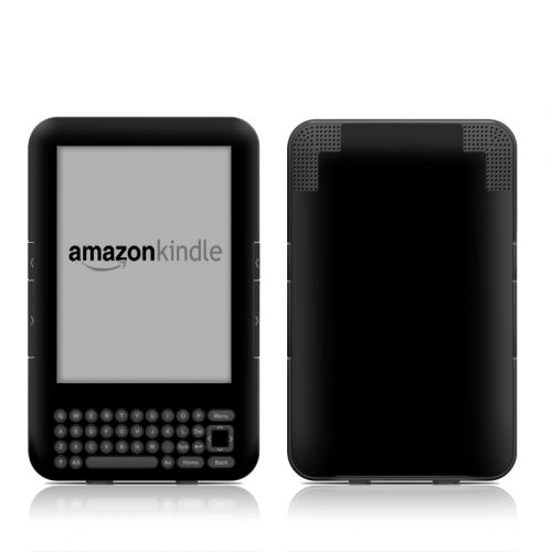 Solid State Black Amazon Kindle 3 Skin