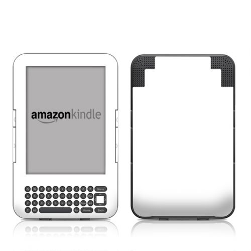 Solid State White Amazon Kindle 3 Skin