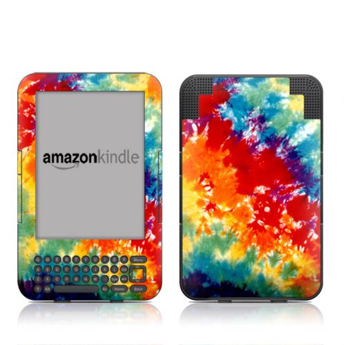 Tie Dyed Amazon Kindle 3 Skin