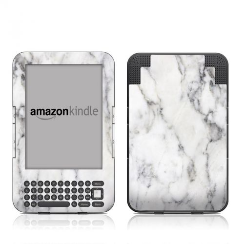 White Marble Amazon Kindle Keyboard Skin