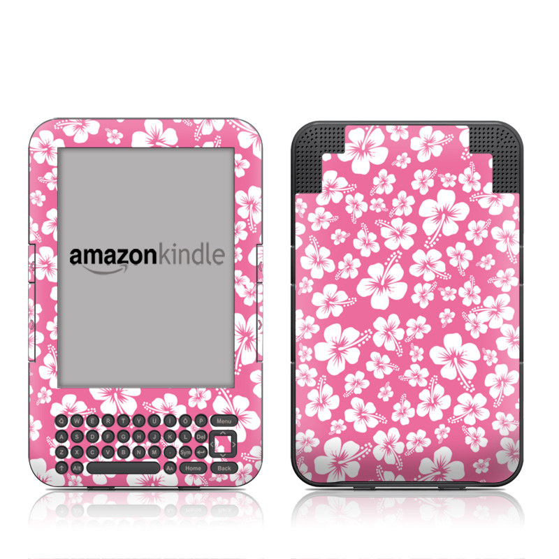 Aloha Pink Amazon Kindle Keyboard Skin