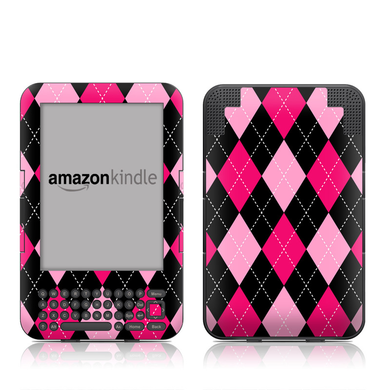 Argyle Style Amazon Kindle Keyboard Skin