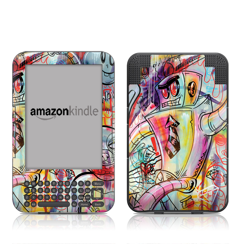 Battery Acid Meltdown Amazon Kindle Keyboard Skin
