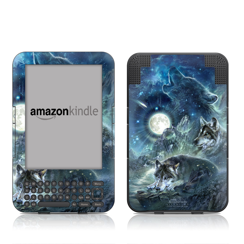 Bark At The Moon Amazon Kindle Keyboard Skin