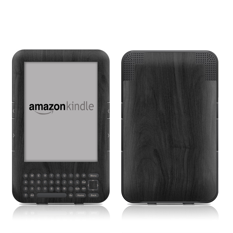 Black Woodgrain Amazon Kindle 3 Skin
