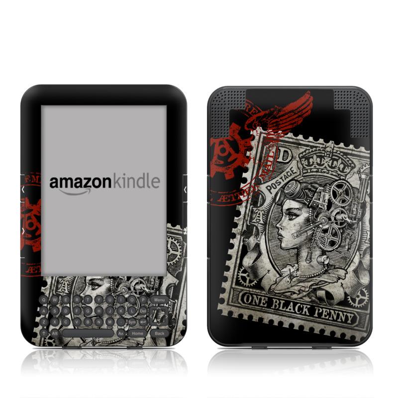 Black Penny Amazon Kindle Keyboard Skin