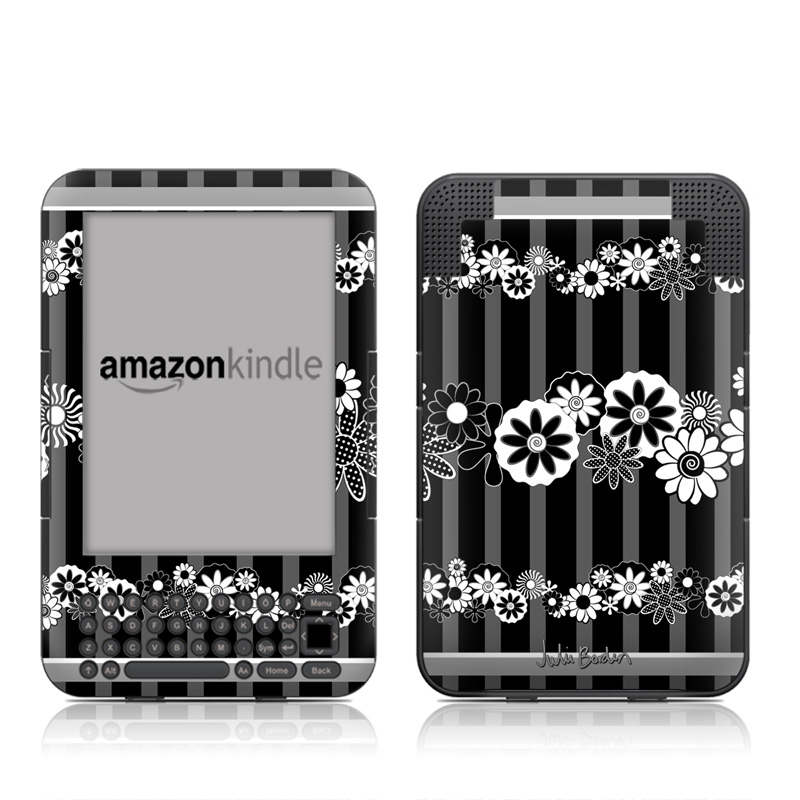 Black Retro Amazon Kindle Keyboard Skin