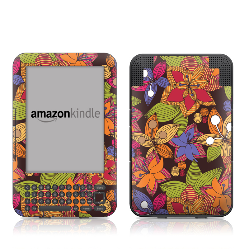 Blooming Amazon Kindle 3 Skin