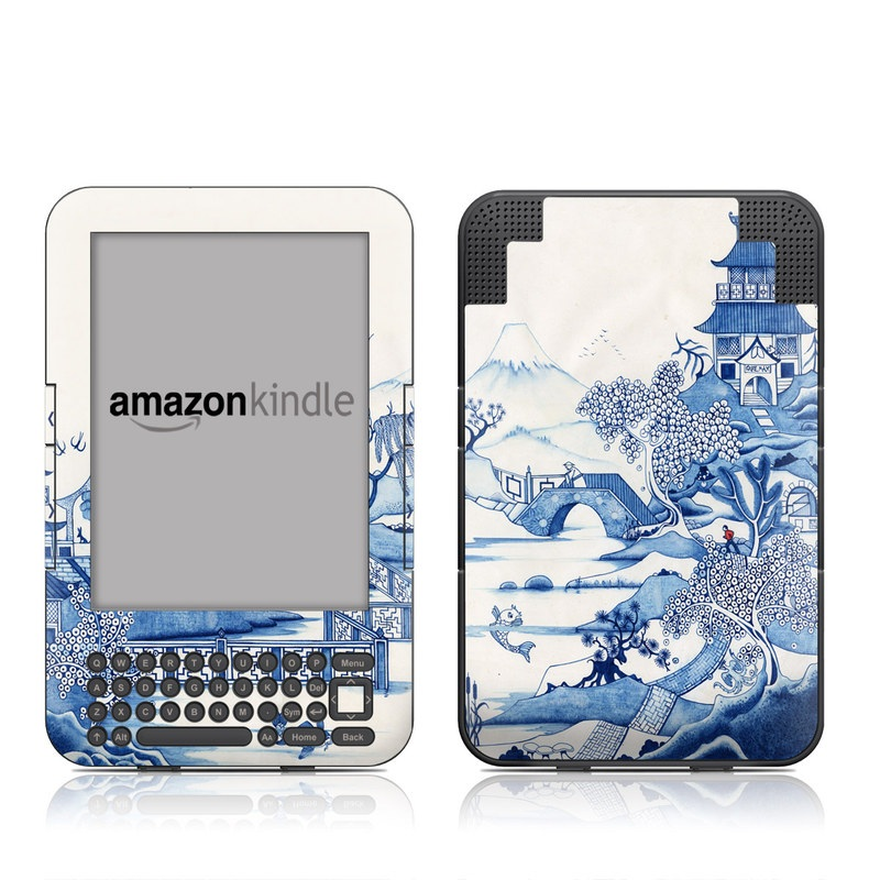 Blue Willow Amazon Kindle Keyboard Skin