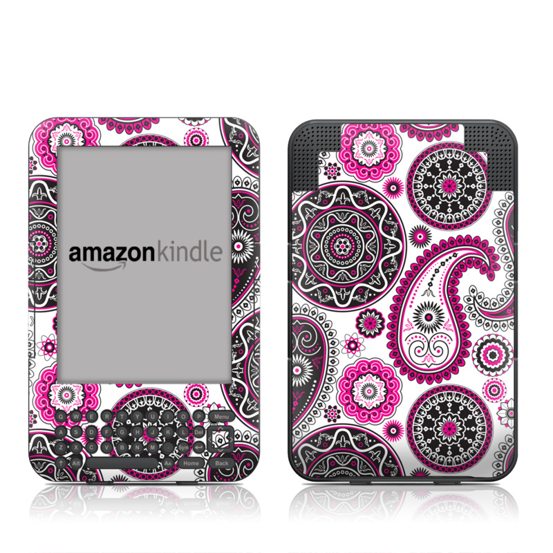Boho Girl Paisley Amazon Kindle Keyboard Skin