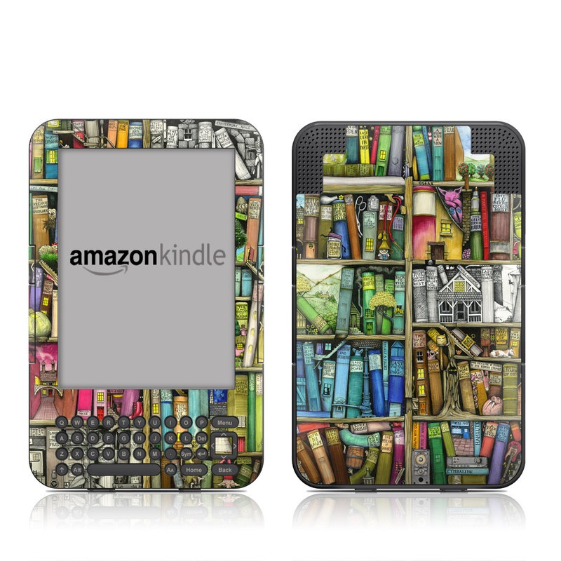 Bookshelf Amazon Kindle Keyboard Skin