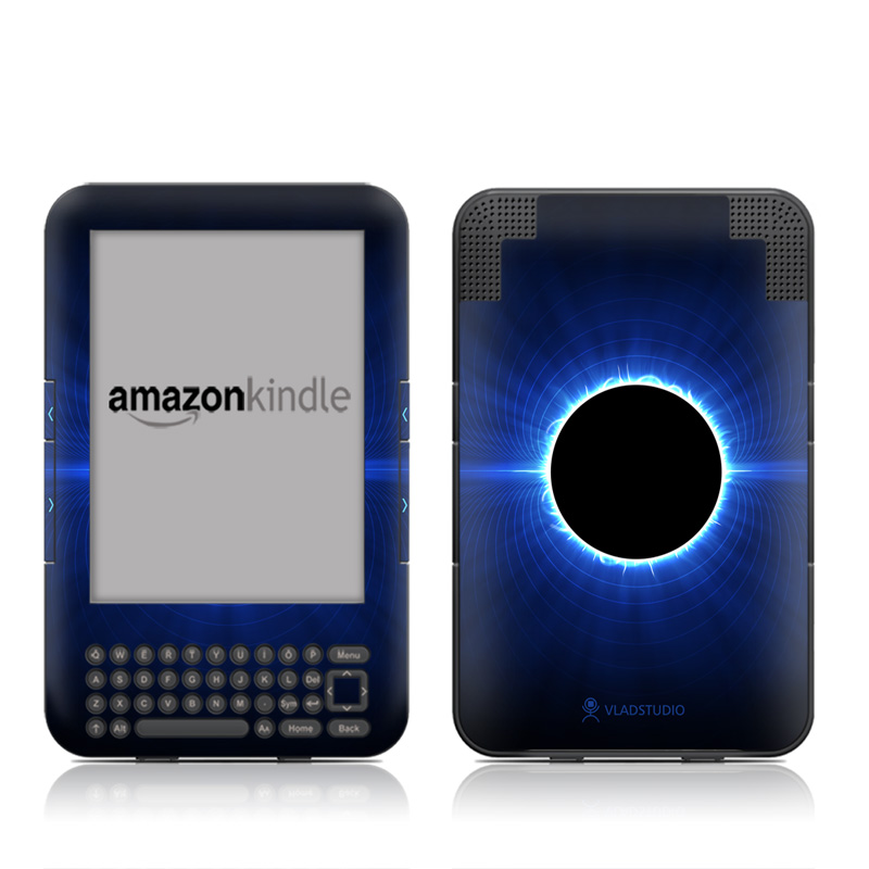Blue Star Eclipse Amazon Kindle Keyboard Skin