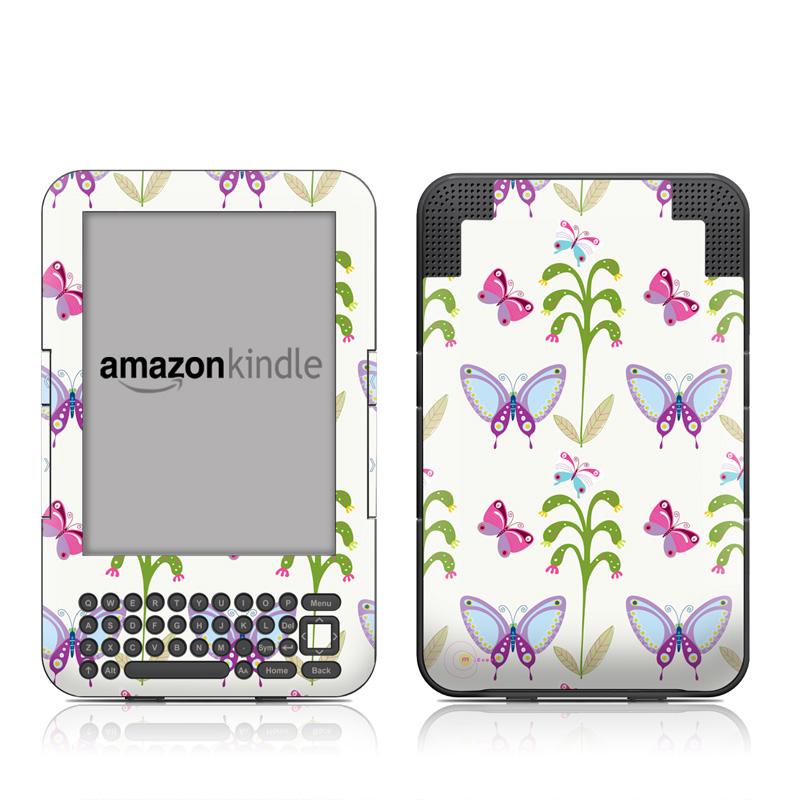 Butterfly Field Amazon Kindle 3 Skin