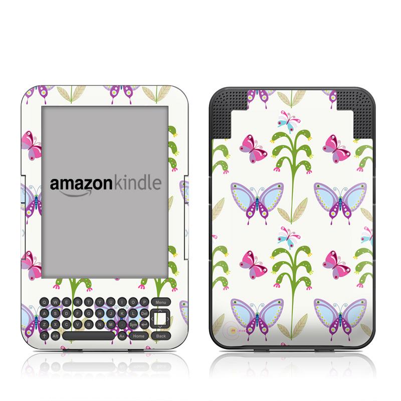 Butterfly Field Amazon Kindle 3 Skin