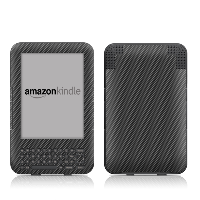 Carbon Amazon Kindle 3 Skin