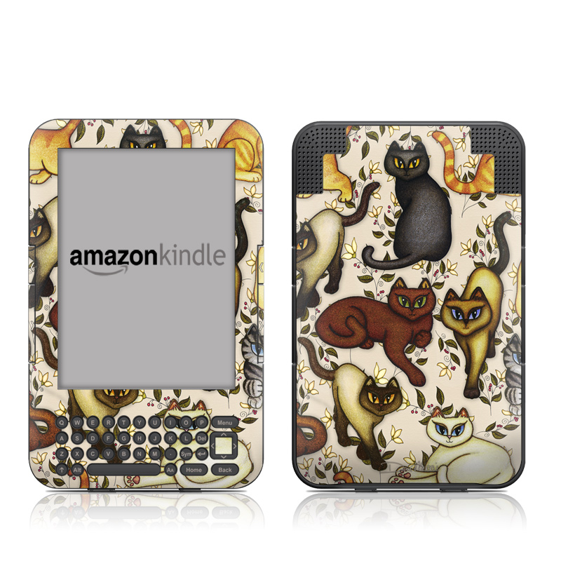 Cats Amazon Kindle 3 Skin
