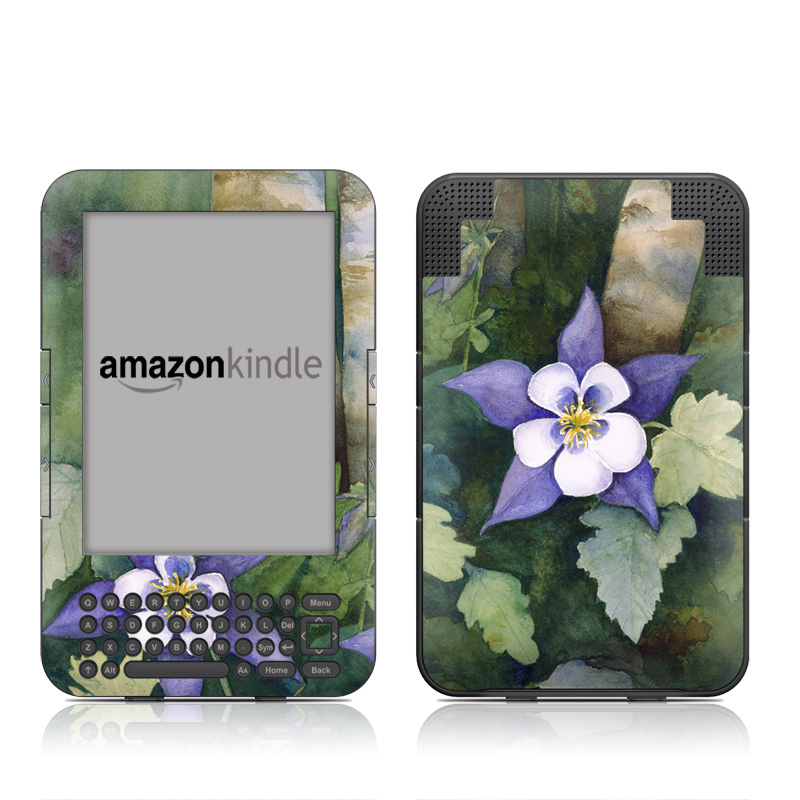 Colorado Columbines Amazon Kindle 3 Skin