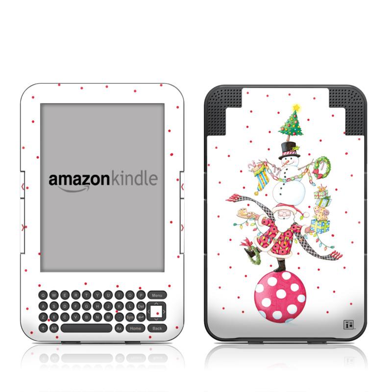 Christmas Circus Amazon Kindle Keyboard Skin