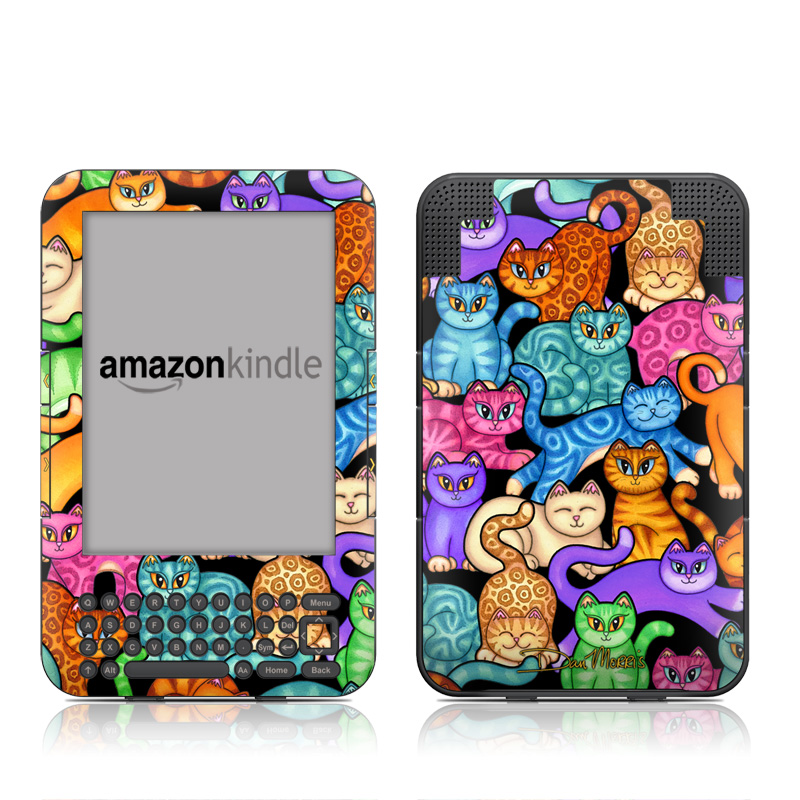 Colorful Kittens Amazon Kindle Keyboard Skin