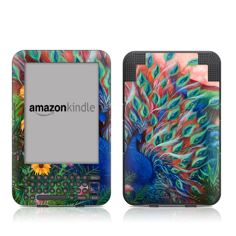 Coral Peacock Amazon Kindle 3 Skin