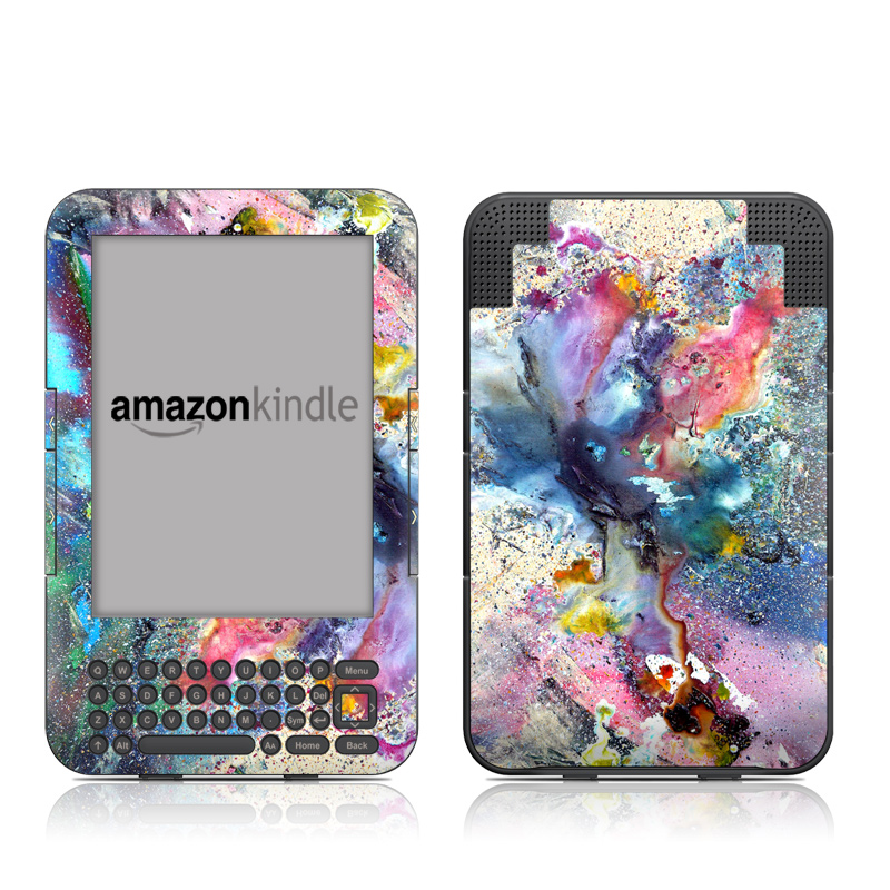 Cosmic Flower Amazon Kindle Keyboard Skin