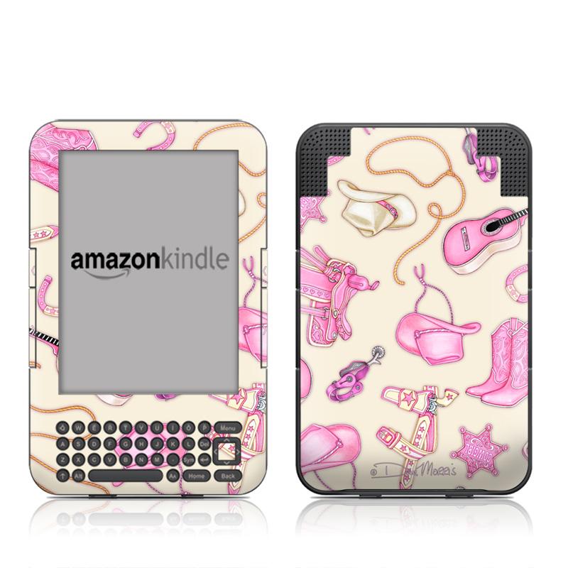 Cowgirl Amazon Kindle 3 Skin