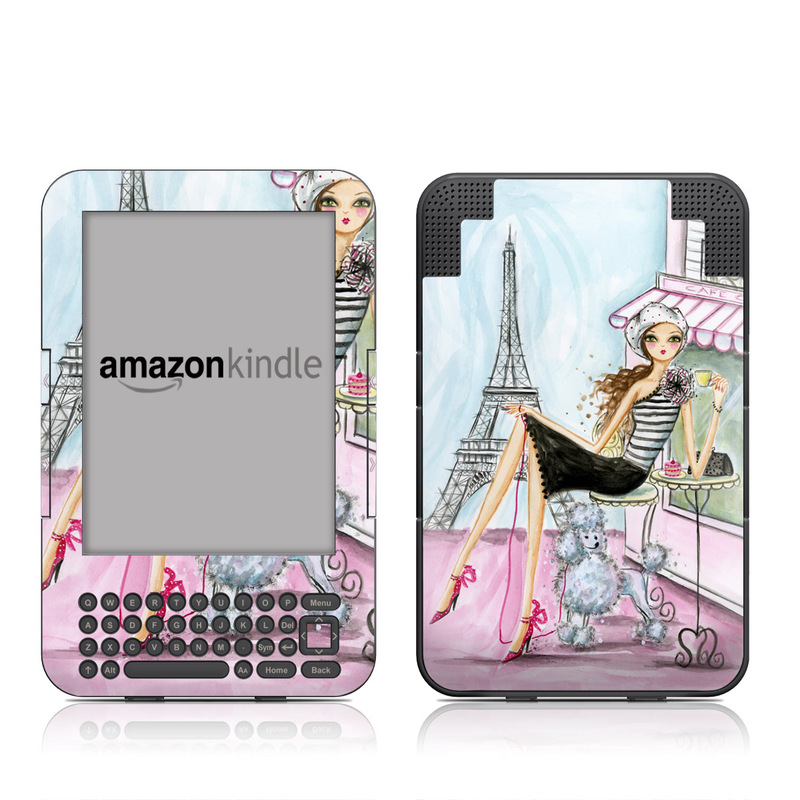 Cafe Paris Amazon Kindle Keyboard Skin