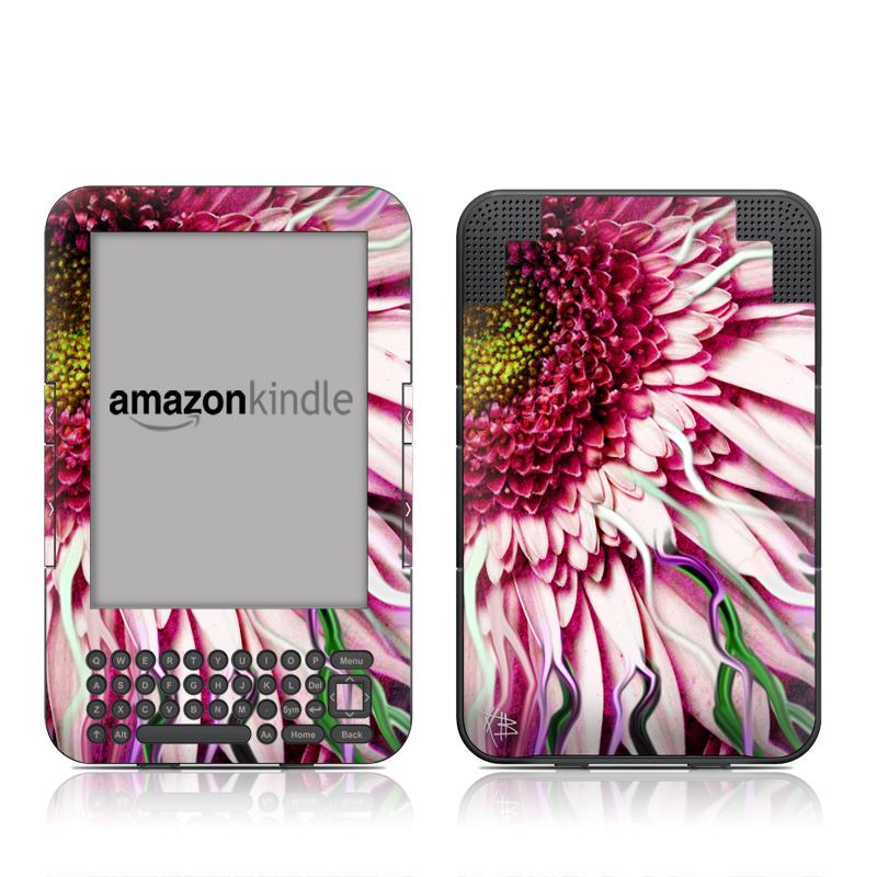 Crazy Daisy Amazon Kindle Keyboard Skin