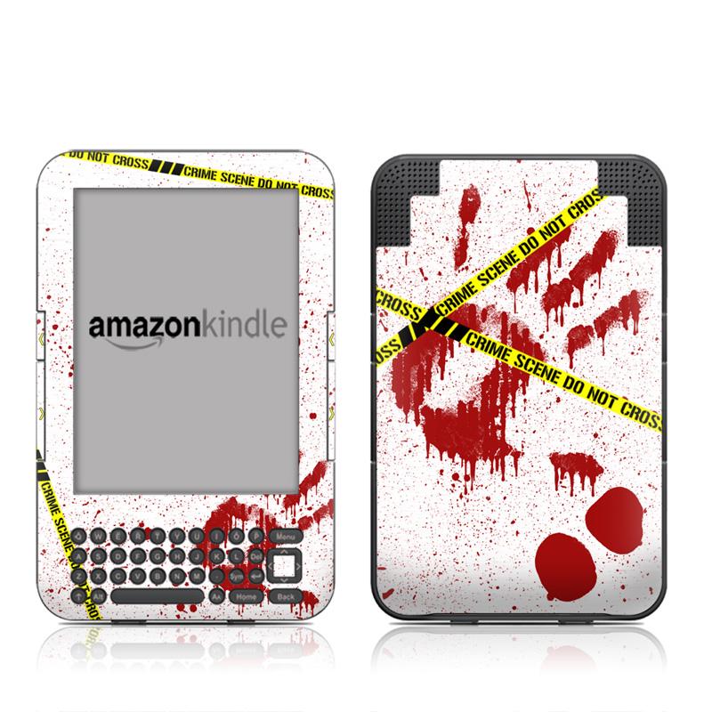 Crime Scene Revisited Amazon Kindle Keyboard Skin