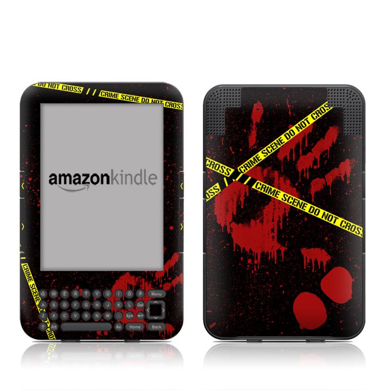 Crime Scene Amazon Kindle Keyboard Skin