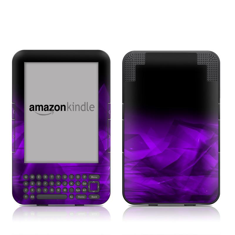 Dark Amethyst Crystal Amazon Kindle Keyboard Skin