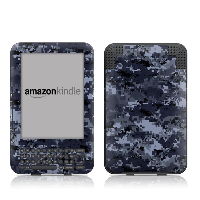 Digital Navy Camo Amazon Kindle Keyboard Skin