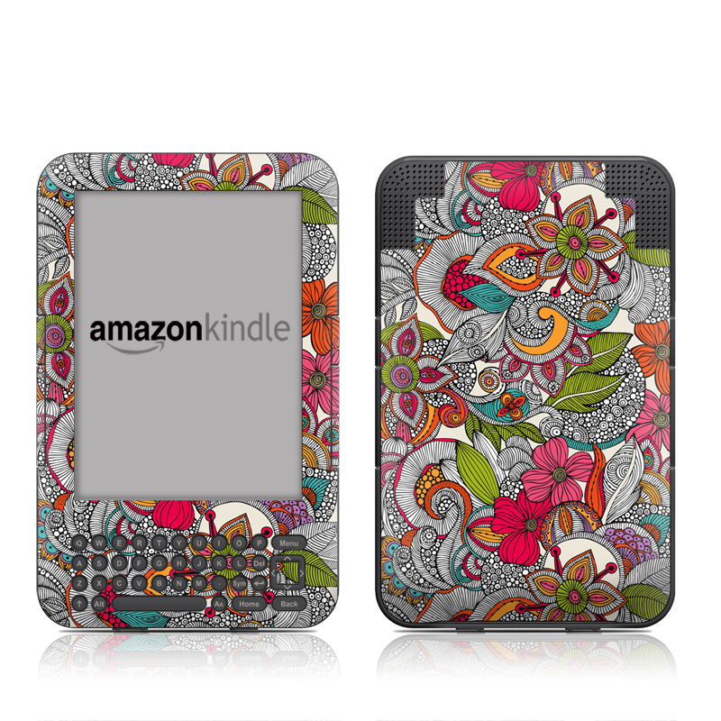 Doodles Color Amazon Kindle Keyboard Skin