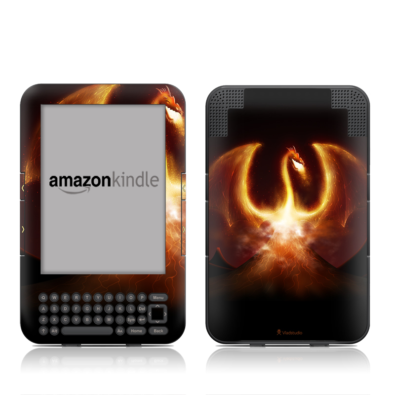 Fire Dragon Amazon Kindle Keyboard Skin